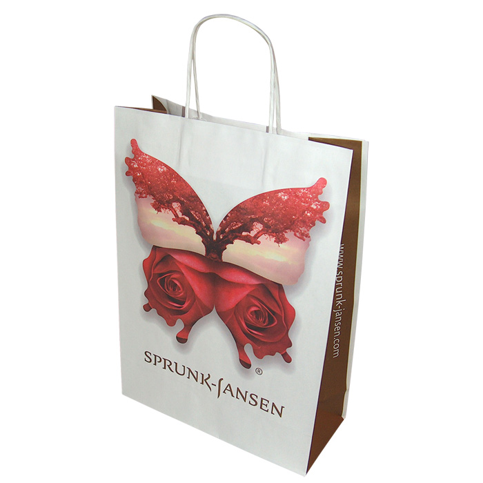 Papirbæreposer med firmatryk