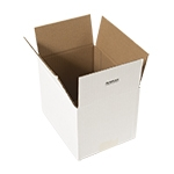 Hvide etlags bølgepapkasser