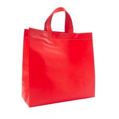 Bærepose shopper non-woven rød