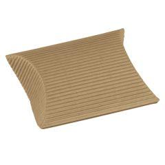 Fix gaveæske brun 1-lag bølgepap, elipseæske
