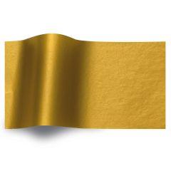 Silkespapper Metall Guld/Guld 2-sidigt