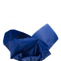 Farvet silkespapir kongeblå
