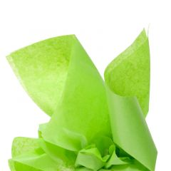 Farvet silkespapir lime