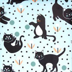 Gavepapir Cats lyseblå FSC