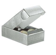 Flaske æske liggende liniepræget silver