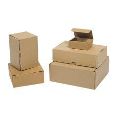 Brune udstansede selvlåsende kasser