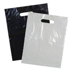 Plastbaerepose med udstanset handtag frostet