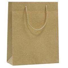 Papirbærepose Lux natur brun recycled