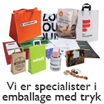 Husted emballage er specialister i firmatrykt emballage