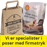 Husted emballage er specialister i firmatrykt emballage